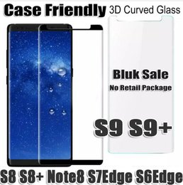 Wholesale Wholesale Bulk Sales - bulk sale S9 S9Plus S8 note8 note 8 S8 S7Edge S6Edge Case Friendly 3D curved Tempered Glass Screen Protector for samsung galaxy s8 plus