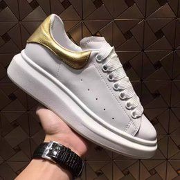 Wholesale Champagne Casual Wedding Dresses - 2018 Europe Wedding Party Footwear Classic Couple Casual Shoes Genuine Leather Mens Womens Sneakers Velvet Heelback Dress Shoe Sports Tennis
