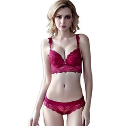wide strap lace bra Coupons - Women s Sexy Bra Set Lace Underwear cup  Lingerie Set Wide 43c629e06
