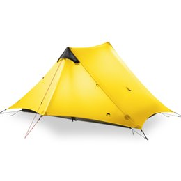 Wholesale Mm Base - 3F UL GEAR 2 People Oudoor Ultralight Camping Tent 3 Season 1 Single Person Professional 15D Nylon Silicon Coating Rodless Tent