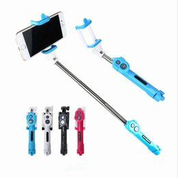 color selfie sticks Promo Codes - New Foldable Tripod Monopod Selfie Stick Bluetooth With Button Pau De Palo Selfie Stick For Android iPhone Perche Selfies OTH758