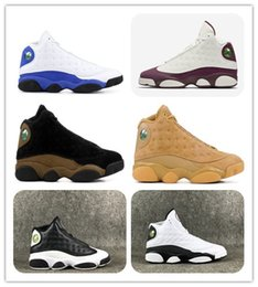 Wholesale White Glitter Shoes - 13 HYPER ROYAL Olive Bordeaux Sngl Day Love And Respect Chicago bred Basketball Shoes 13s Wheat Sports shoes Mens Athletics Sneaker with box