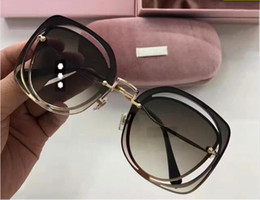 Wholesale Top Frameless Glasses - New hot selling brand glasses MU frameless square frame hollow clear coating lens top quality 5 color with original box for women