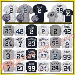 Wholesale Green Mantle - New York 99 Aaron Judge #2 Jersey 23 Don Mattingly 3 Babe Ruth 7 Mickey Mantle 42 Mariano Rivera 51 Bernie Williams