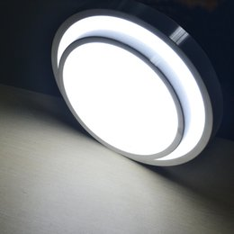 Wholesale Bedroom Border - 15W LED ceiling light, Surface mounted Silver borders + white lampshade,bedroom lamp, cool white 90-240V