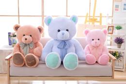 Grand joli mignon ours en peluche jouet noeud papillon ruban câlin ours ours de poupée cadeau d'anniversaire oreiller doux ? partir de fabricateur