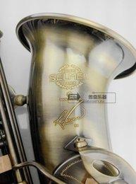 Wholesale Selmer 54 - New high quality France Saxophone Alto E Sax Selmer 54 Musical Instrument Antique Copper Simulation abalone key ccessories
