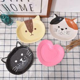 bolo de gato bonito Desconto 8 pçs / set prato descartável prato bonito gato bolo de aniversário prato eco-friendly decoração do partido suprimentos 5 estilo navio livre