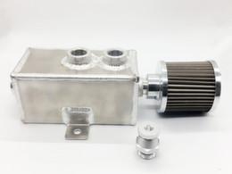 Wholesale Aluminum Oil Catch Can - Universal 1L Raw Aluminum Oil Catch Can Tank with Breather & Drain Tap Baffled 1L 2 3L