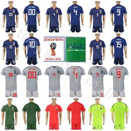 8278221db29 Japan 2018 World Cup Soccer Jersey Set 4 Keisuke Honda 9 Shinji Okazaki 10  Shinji Kagaw Football Shirt Kits With Short Pant 15 Yuya Osako