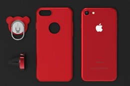 Wholesale Magnetic Hard - New iphone7 mobile phone shell full package Apple 8 hard shell magnetic suction ring support iphoneX protective sleeve 6plus