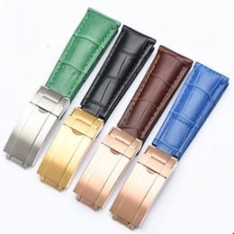 Наручные часы купить онлайн-20 мм натуральная кожа часы ремешок ремешок для Rolex Oyster-устрица Flex браслет DaytonaStrap