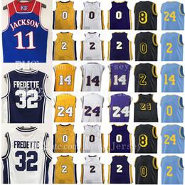 Wholesale Ncaa Orange - NCAA college Mens 2018 New Jersey 2 Lonzo Ball 0 Kyle Kuzma Los Angeles 24 8 14 Brandon Kobe Ingram Bryant Lakers stitching Jerseys