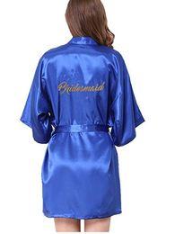 2019 capa dianteira compõem Vestes da dama de honra Roupão de banho Robe Noiva do casamento Dama de honra Vestes Pijama Robe Feminino nightwear Roupão de banho Camisola Camisola