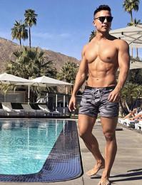 Wholesale men swim boxer shorts - Sexy Men's Swimwear Swimsuits Man Plus Big Size XXL Camouflage Basic Swimming Beach Long Board Shorts Boxer Men