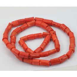 """Set di collana dei branelli del corallo online-Perle di corallo naturale Set 2016 New Nigerian African Wedding Sposo Beads Necklace Jewelry Set 35 """"pollici Per Gli Uomini Spedizione Gratuita CJ791"""