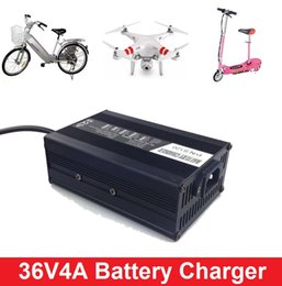 Wholesale 36v Scooter - 36v ebike battery charger 10S 42V4A Lithium ion charger 12S 43.8V4A LiFePO4 3S 44.1V4A Lead acid Battery Charger for electric scooter