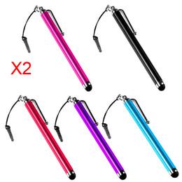 stylos de téléphone portable Promotion Lots en gros 10 Stylus Écran Tactile Stylo En Métal pour IPhone 3G 3GS 4S 4 4G Ipad 2 HTC Touch Stylus Pour Téléphone Mobile