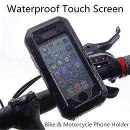 Wholesale Iphone Bike Case - Waterproof Bicycle Bike Motorcycle Phone Holder For IPhone X 8 7 6 Plus Handlebar Clip Stand Mount Bracket Shockproof Case