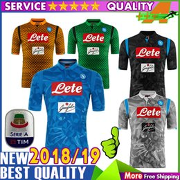 3A Thai Quality 18 19 Napoli soccer Jerseys CALLEJON MERTENS HAMSIK PLAYER INSIGNE  football Jersey 2018 2019 Naples Black Shirt discount napoli jersey d0fac7163