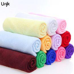 Veloci tessuti asciutti online-Urijk 5PC 30 * 70 centimetri in microfibra morbido asciugamano per bagno cucina mano auto pulizia asciugamani tessuto asciugatura rapida housework pulito auto asciugamano