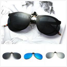 clip polarizado de los vidrios de conducción Rebajas Protección ocular de alta calidad Polarized Color Flim Hombres y mujeres cerca de conducción gafas de sol de conducción Clip