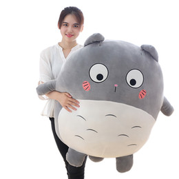 totoro figures Coupons - kawaii anime Totoro plush toy large soft cartoon Totoro doll cat toys pillow birthday gift for friend children 35inch 90cm