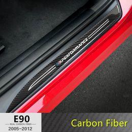 Wholesale Bmw Series Accessories -     Sports Carbon Fiber Car Door Sills Threshold Bar For BMW 3 5 Series F30 E90 X1 X3 X4 Car Welcome Pedal Trim Strip Exterior Accessories