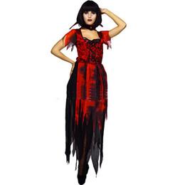 disfraz de santa verde Rebajas Nueva alta calidad de Halloween traje de vampiro adulto adulto traje de horror fantasma partido fiesta fantasma novia vestido gótico c