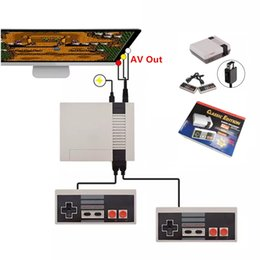Wholesale Ups Tv - 1Pcs Up Epacket Shipping Mini TV Video Handheld Retro Super Classic Edition Game Console Entertainment System 8bit for NES Games PAL&NTSC
