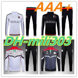 Набор тренировочных костюмов онлайн-Высокое качество 2017 Палестина survetement футбол спортивный костюм тренировочный костюм 15 16 17 Палестина футбол куртка длинные брюки спортивная одежда футбол наборы