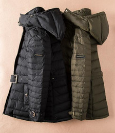 Wholesale Long Classic Winter Coats - NEW Classic!women fashion england winter warm white duck down coat brand designer thick parkas for women B8858430 size S-XL black,army green