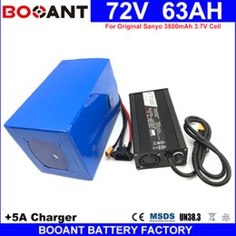Wholesale Battery Charger For Sanyo - 72V 63AH for Bafang 2500W 3000W 5000W 8000W Motor Electric Battery For Sanyo 18650 Battery pack E-Bike Battery 72V +5A Charger