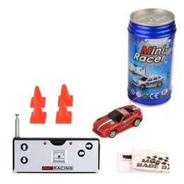 free racing cars Promo Codes - DHL Free Multi Color Mini-Racer Remote Control Car Coke Can Mini RC Radio Remote Control Micro Racing 1:64 Car 8803 Children Toy Gift