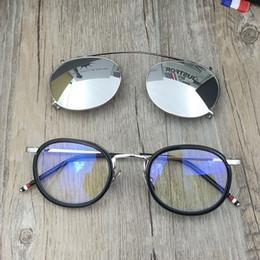 46c472ad2ee Brand Eyeglasses Frames Optical Glasses Frame with Sunglass Lens Vintage  Sunglasses TB-710 Frames Men Women Spectacle Frames Myopia Eyewear