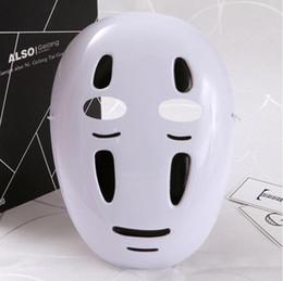 2019 maschere di spirito Halloween Anime Movie Spirited Away Maschera di carattere Accessori Cosplay Maschera misteriosa Masquerade Party Mask Materiale PVC sconti maschere di spirito