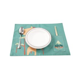 Wholesale modern kitchen gadgets - Non-slip Heat Resistant Dining Mat Pocket Placemat Table Decoration Kitchen Gadgets Wholesale Accessories Supplies Products
