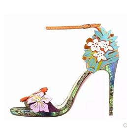 Nombres de zapatos de dama online-Sexy marca envío libre del verano zapatos de boda de tacón 11 cm marca de impresión de serpiente zapatos de señora 480