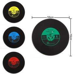 Wholesale Free Coffee Tables - 4 Colors Creative CD Cup Mat Retro Vinyl Coasters Non Slip Vintage Record Cup Pad Home Bar Table Decor Coffee Mats With DHL Free