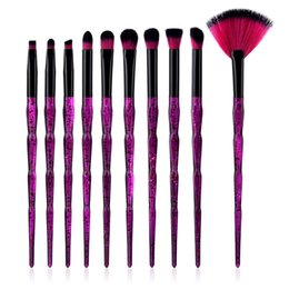 high quality tools Coupons - High Quality 10 pcs Makeup Brushes Diamond Starry Sky Eye Brush Make up Tools Face Multifunctional Beautiful Free Shipping eub