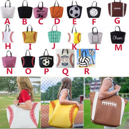 Wholesale Breast Hanging - Canvas Bag Baseball Sports Bags Casual Softball Bag Football Soccer Basketball Rugby Tote Bag 18 Color