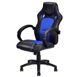 Wholesale Blue Racing Seats - High Back Race Car Style Bucket Seat Office Desk Chair Gaming Chair Blue New