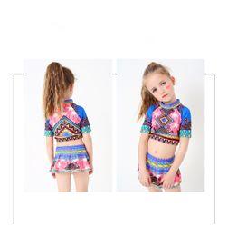 Wholesale Hot Children Bikini - Wholesale New Children Swimsuit Girl Fashion Bikini Baby Beach Clothes Tankini Baby Bathing Suits Hot Spring Outdoor Swim Sets Two pieces