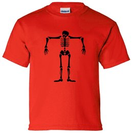 party dress white boys Promo Codes - SKELETON SCARECROW BOYS OR GIRLS T SHIRT TRICK TREAT PARTY FANCY DRESS HALLOWEEN funny 100% Cotton free shipping t shirt