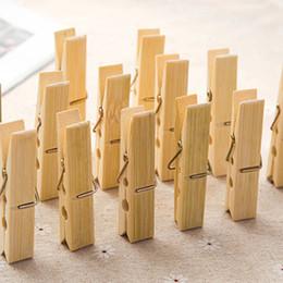 perchas de calidad Rebajas Multifunción La mejor calidad Mini bambú Ropa de madera Papel fotográfico Clavija Pinzas de lavandería Pinzas Craft Clips jc-329