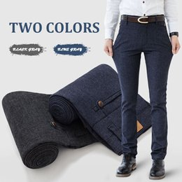 Wholesale Flax Pants Xl - Male Smart Casual Cotton Linen Pants Fashion All-match Slim Fit Elastic Full Length Cotton-Flax Straight Pants For Business Men