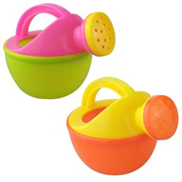 Wholesale kids watering cans wholesale - LeadingStar Baby Bath Toy Plastic Watering Can Watering Pot Beach Toy Play Sand Gift for Kids Random Color zk49