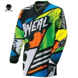 Wholesale Bmx Jersey Xl - 2018 New Green Red Black Moto GP Mountain Bike Motocross Jersey BMX DH MTB T Shirt Clothes Orange
