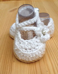 Wholesale Baby Boy Newborn Crochet Booties - Crochet Baby Shoes,White Baby Shoes,Handmade Wedding Shoes,Baby Ballerina White Shoes,Newborn Booties size 0-12 months