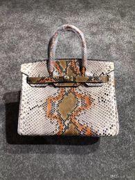 2018 luxe BK 100% Python peau sacs à main 7A meilleure qualité célèbre designer femmes véritable en cuir sac à bandoulière impression sac fourre-tout 30 cm ? partir de fabricateur